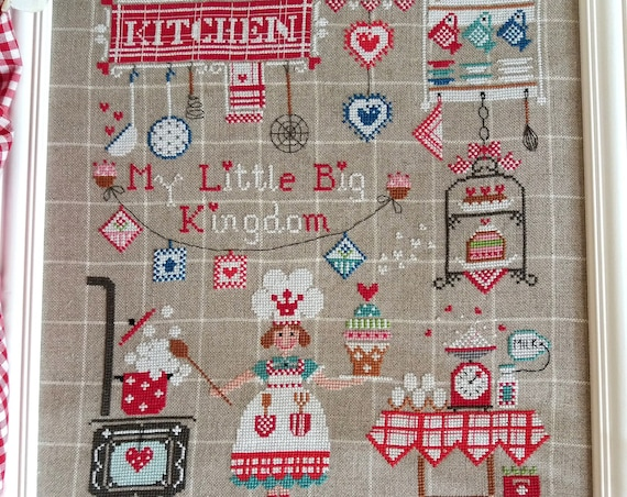 Il Mio Piccolo Grande Regno - My Little Big Kingdom - Cross Stitch Pattern CUORE e BATTICUORE - Creazioni a Punto Croce - Kitchen - Cooking