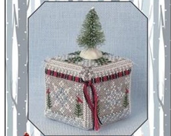 Frosty Snow Cube - Limited Edition Cross Stitch Kit / Pattern by JUST NAN Winter - Snow - Needlework Smalls - JN307