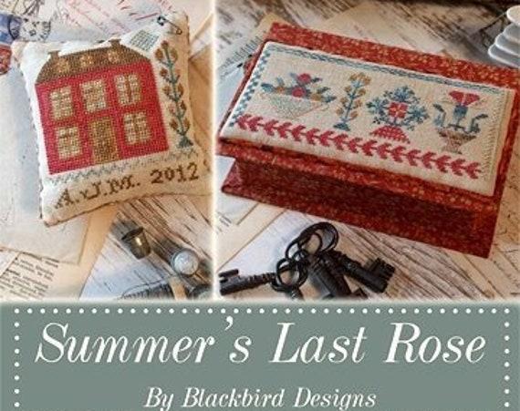 Summer's Last Rose - Cross Stitch Book/Pattern by BLACKBIRD DESIGNS Sampler - Sewing Box - Pinkeep - Needlework Smalls