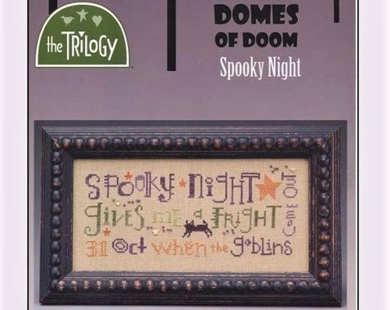 Domes of Doom - Spooky Night - Cross Stitch Pattern THE TRILOGY - Halloween - October 31 - Goblins