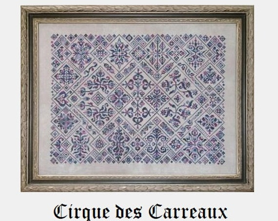 Cirque des Carreaux - Cross Stitch Pattern by INK CIRCLES - Circus Tiles - Sampler