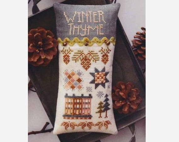 Winter Thyme - Cross Stitch Pattern by HANDS ON DESIGN - Needlework Small - Includes Embellishments!