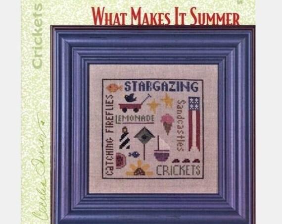 What Makes It Summer - Cross Stitch Pattern HEART IN HAND Needleart - Summer Sampler