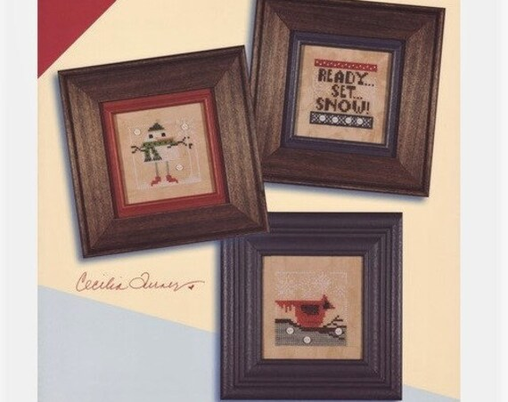 Snow Triplet - Cross Stitch Pattern by HEART IN HAND Needleart - Winiter - Snow - Snowman - Cardinal