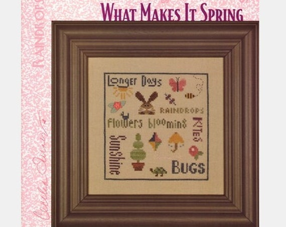What Makes It Spring - Cross Stitch Pattern HEART IN HAND Needleart - Spring Sampler