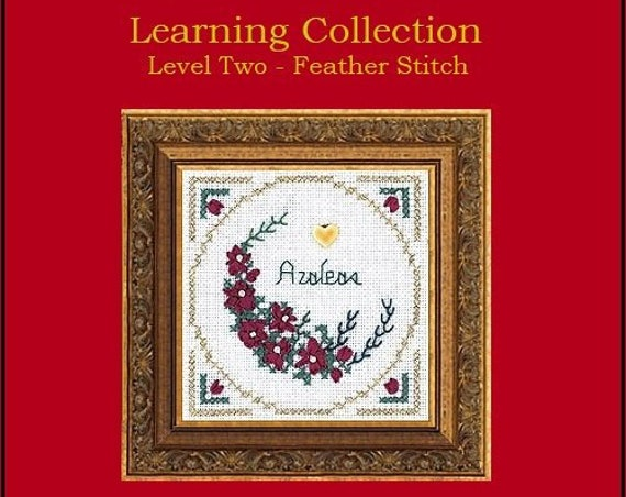 Beyond Cross Stitch - Learning Collection Level Two - Feather Stitch - Kit by THE VICTORIA SAMPLER Ribbon Embroidery - Azaleas - Flowers