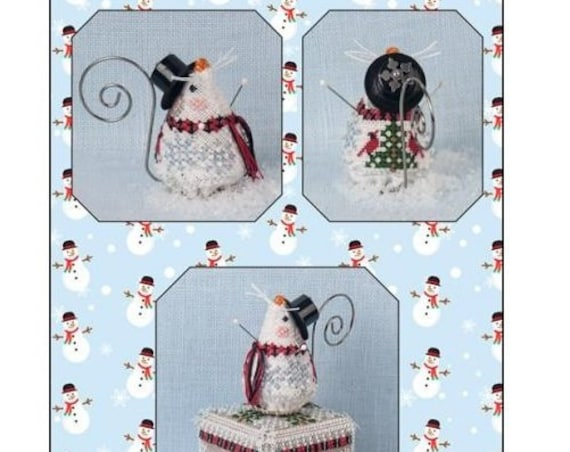 Frosty Chillingsworth Mouse - Limited Edition Cross Stitch Kit / Pattern by JUST NAN Winter - Snow - Needlework Smalls - JNLEFCM