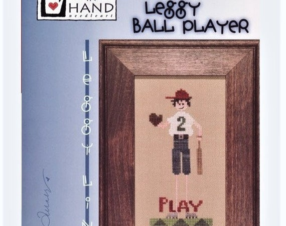Leggy Ball Player - Cross Stitch Pattern by HEART IN HAND Needleart - Baseball Player - Boy