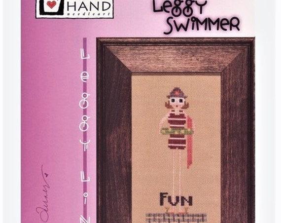 Leggy Swimmer - Cross Stitch Pattern by HEART IN HAND Needleart - Beach Girl