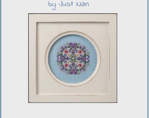 Pansy Mix - Cross Stitch Pattern by JUST NAN Includes Beads - JN316 - Flowers - Floral