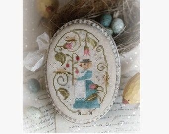 Here a Peep There a Peep - Cross Stitch Pattern by COUNTRY STITCHES With Thy Needle & Thread - Brenda Gervais - Easter Peep - Chick - Spring