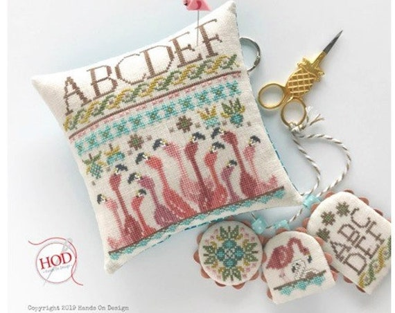 You Had Me At Flamingo - Cross Stitch Pattern by HANDS ON DESIGN - Summer - Pincushion - Pin Cushion - Scissor Fob