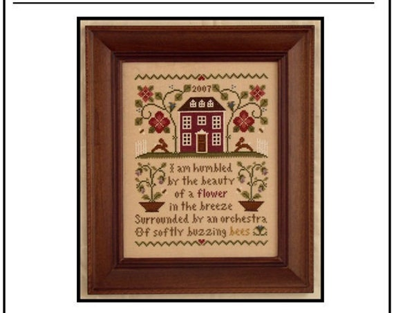 Nature's Beauty - Cross Stitch Pattern by LITTLE HOUSE NEEDLEWORKS Sampler - Red House