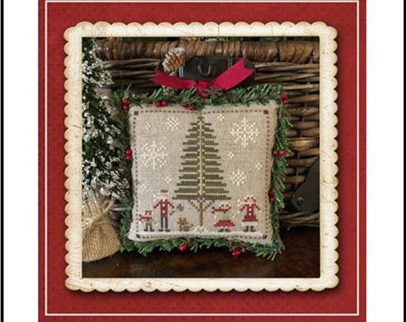 """PART 3: Jack Frost's Tree Farm """"Family Fun"""" Cross Stitch Pattern by Little House Needleworks - Winter-Christmas Ornament - Fir Trees - Snow"""