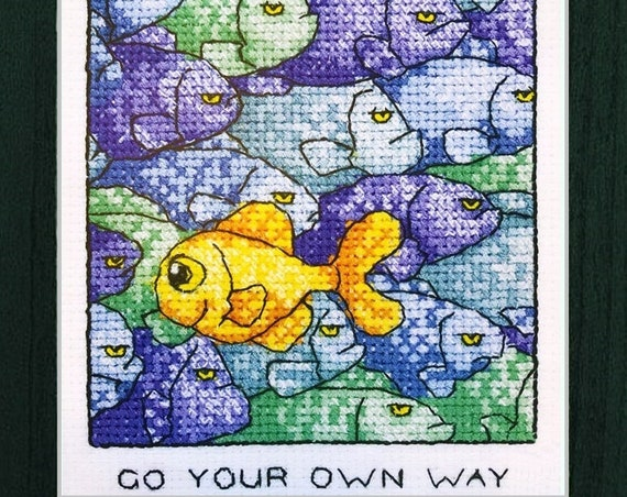 Go Your Own Way - Cross Stitch Pattern by HERITAGE CRAFTS Peter Underhill - Independence - Personal Strength - Independent Thinking