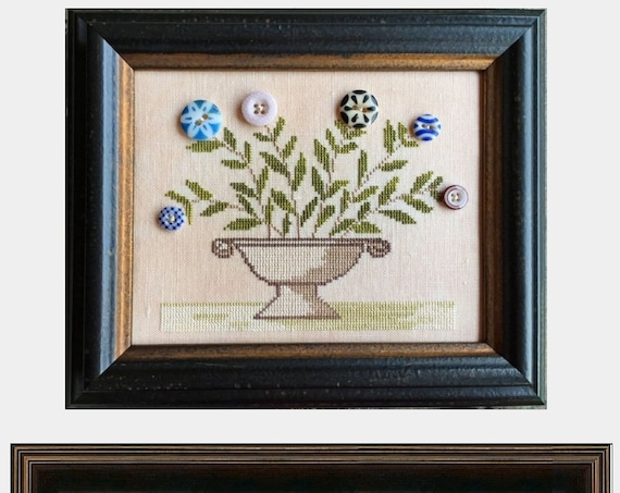 Nancy's Posies - Cross Stitch Pattern by NEEDLEMADE DESIGNS - Buttons Flowers