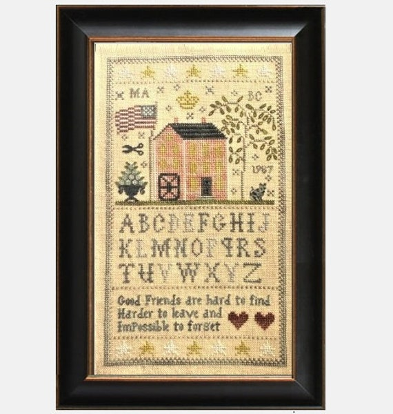 Friends of the Mill Sampler - Cross Stitch Pattern by CHESSIE & ME