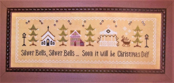 Silver Bells - Cross Stitch Pattern by THE SUNFLOWER SEED Christmas 25% Off!!!