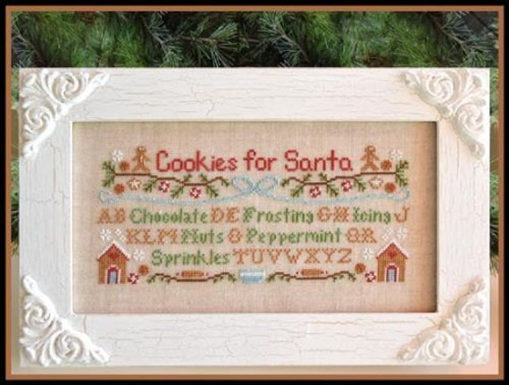 Cookies for Santa - Cross Stitch Pattern by COUNTRY COTTAGE NEEDLEWORKS Christmas - Sampler - Peppermint - Chocolate - Sprinkles - Frosting