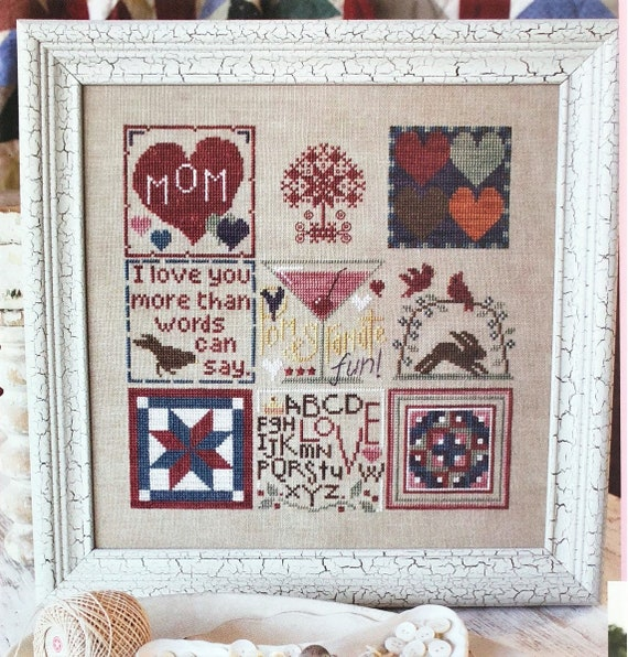 From the Heart - Cross Stitch Pattern KRIS'S STITCHES Norden Crafts - Mother - Love - Mother's Day - JBW Designs - SamSarah - Bent Creek