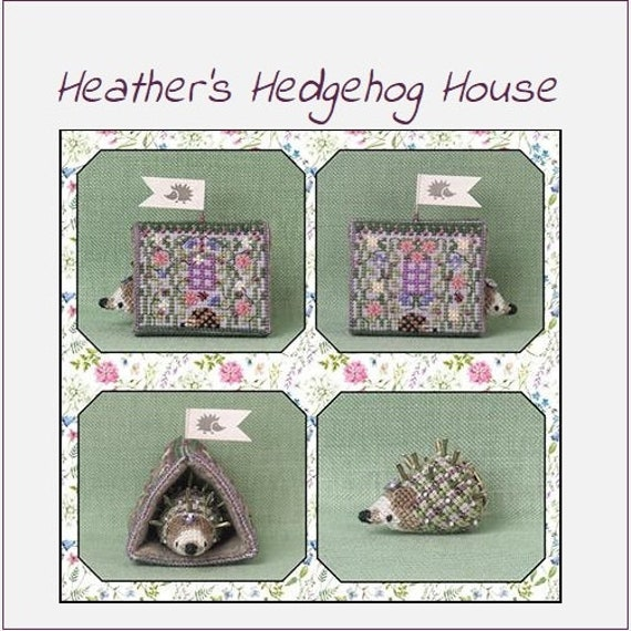 Heather's Hedgehog House - Cross Stitch Pattern by JUST NAN - Limited Edition - Includes Embellishments! JN315LE