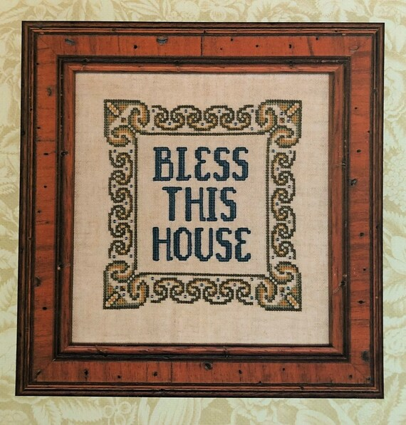 Bless This House - Cross Stitch Pattern by ELIZABETH'S DESIGNS - Sampler - House Blessing - Housewarming - House Warming - Blessing