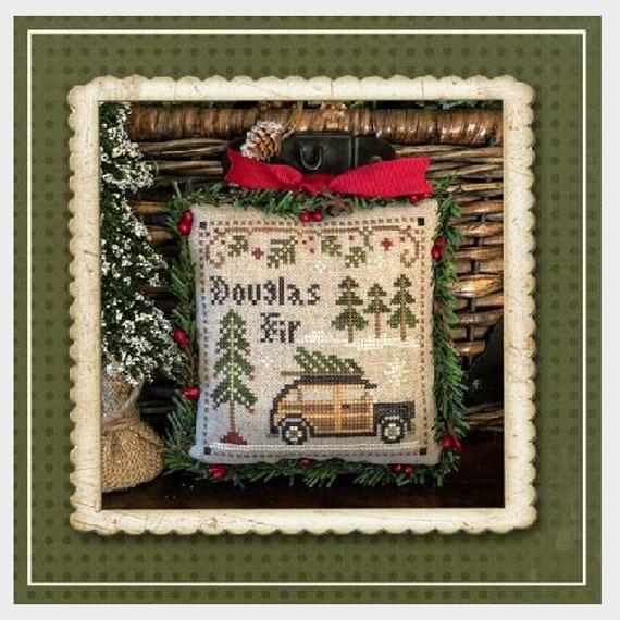 "PART 2: Jack Frost's Tree Farm ""Douglas Fir"" Cross Stitch Pattern by Little House Needleworks - Winter-Christmas Ornament -Fir Trees-Snow -"