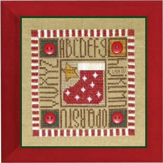 Christmas Cracker - Cross Stitch Kit by BENT CREEK - Stocking - Includes ALL supplies! - Christmas Stocking - Alphabet - abc