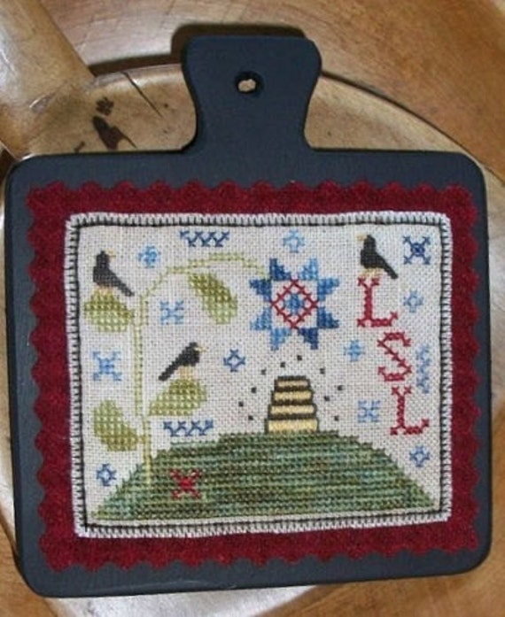 Birds and Blooms Mini Hornbook Sampler - Cross Stitch Pattern by CHESSIE & ME - Sampler - Bees - Bee Skep - Bee Hive - Blackbird - Birds