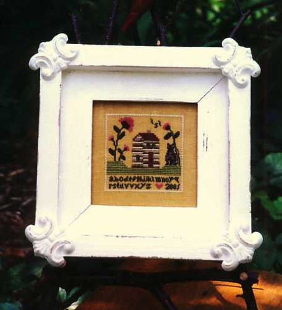 Chessie's House #4 - Cross Stitch Pattern by CHESSIE & ME - Mini Sampler - House - Cat - Flowers - Alphabet - ABC