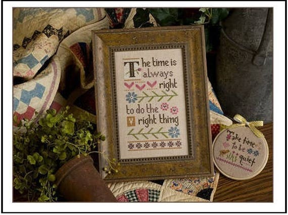Do the Right Thing - Cross Stitch Kit by LIZZIE KATE - Sayings - Sampler - Inspiration Boxer - Inspirational - Inspire #B58