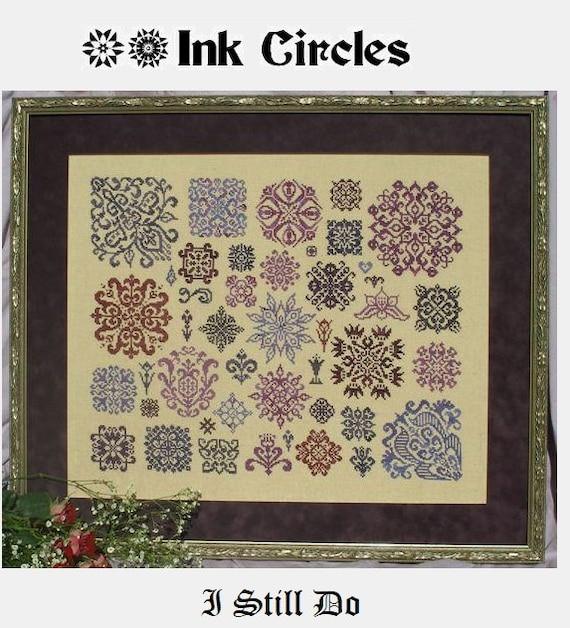 I Still Do - Cross Stitch Pattern by INK CIRCLES - Includes 2 Large Samplers!  Wedding Sampler - Second Chances - Quaker Motifs - Redwork