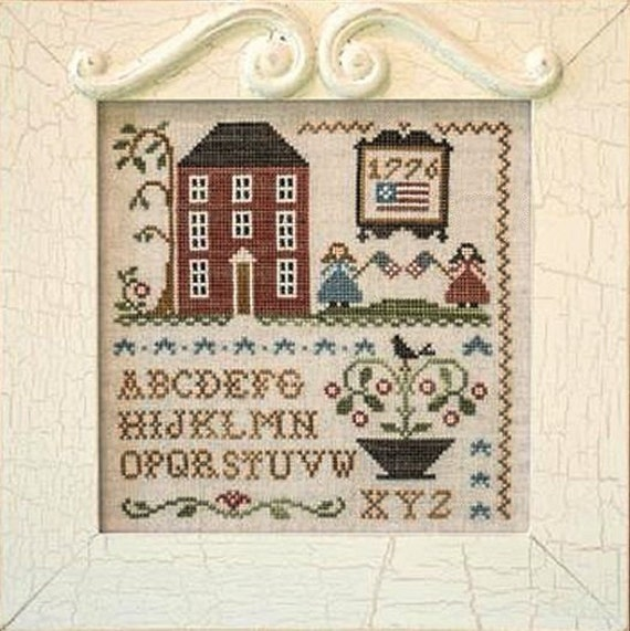 Summer ABC's - Cross Stitch Pattern by LITTLE HOUSE Needleworks - Alphabet - Watermelon - Apples - Bee Skep - Picnics