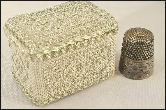 April Diamond - Thimble Box Treasures Birthstone Series Cross Stitch Kit by NOTEWORTHY NEEDLE Includes Bamboo Snap-Together Box!