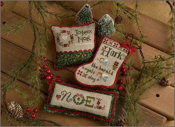 2017 Flora McSample Treats - Cross Stitch Pattern by LIZZIE KATE #188 - Includes Charms and Beads - Christmas Stocking - Ornament