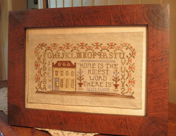A Family Homestead - Cross Stitch Pattern by HOMESPUN ELEGANCE - Purely Samplers Collection - Home is the Nicest Word There Is