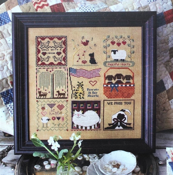 All Things Great and Small - Cross Stitch Pattern KRIS'S STITCHES Norden Crafts - Animals - Pets - Dog Cat - Chessie & Me - Shepherd's Bush