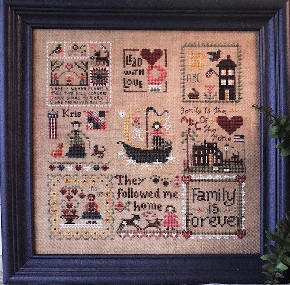 Lady of the House - Cross Stitch Pattern KRIS'S STITCHES Norden Crafts - Home - Mother - Family - Little House Needleworks - Heart in Hand