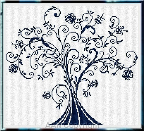 Albero Dei Capricci - Cross Stitch Pattern by by ALESSANDRA ADELAIDE NEEDLEWORKS Tree