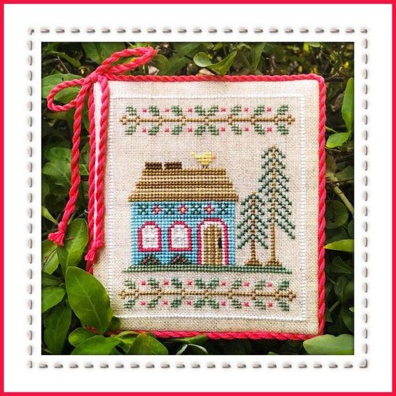 Welcome to the Forest Part 4:  Blue Forest Cottage - Cross Stitch Pattern by COUNTRY COTTAGE NEEDLEWORKS Series -