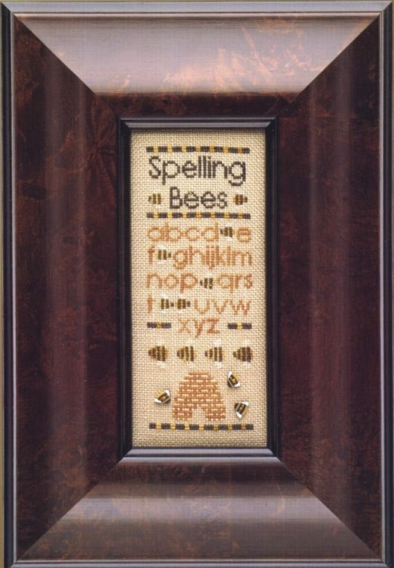 Spelling Bees - Cross Stitch Pattern by TWISTED THREADS - Bee Skep - Beehive - Alphabet - ABCs