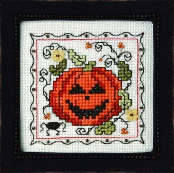 Teenie Tiny Halloween III - Cross Stitch Pattern and Charms by The SWEETHEART TREE Jack O Lantern - Autumn - Fall - Pumpkin Patch