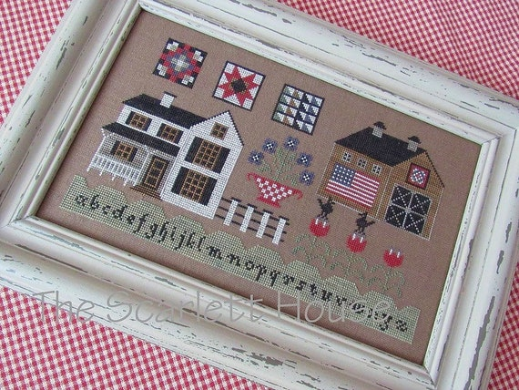 American Farmhouse - Cross Stitch Pattern by THE SCARLETT HOUSE - Quilts - Sampler