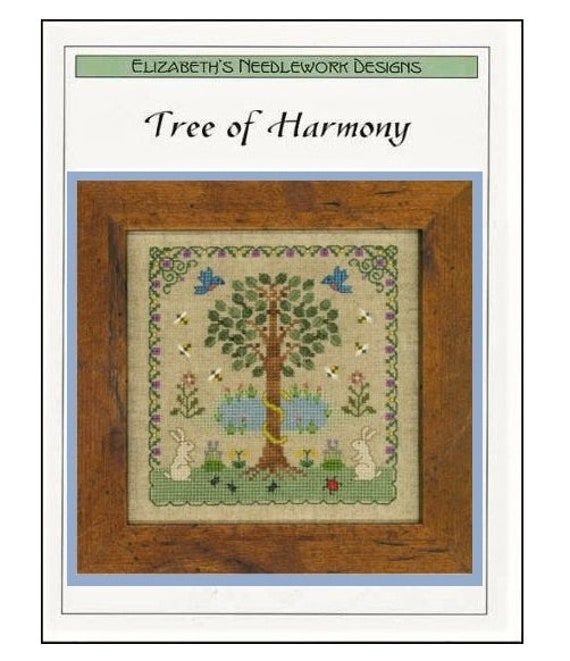 Tree of Harmony - Cross Stitch Pattern by ELIZABETH'S DESIGNS - Sampler - Garden - Birds