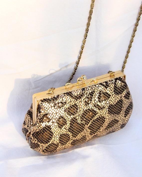 Vintage 1970s / 1980s Leopard Chainmail Purse
