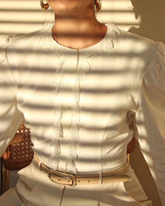 Vintage 1990s Gunne Sax Puff Sleeve Blouse - S / M - image 6