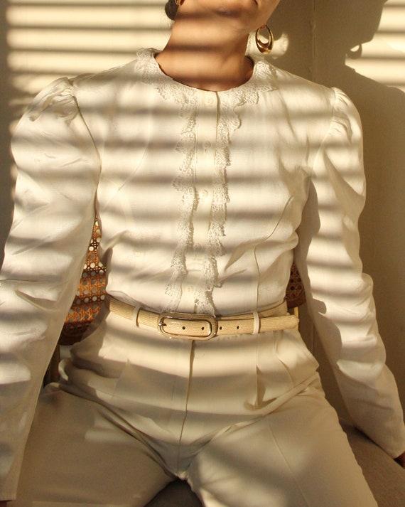 Vintage 1990s Gunne Sax Puff Sleeve Blouse - S / M - image 3