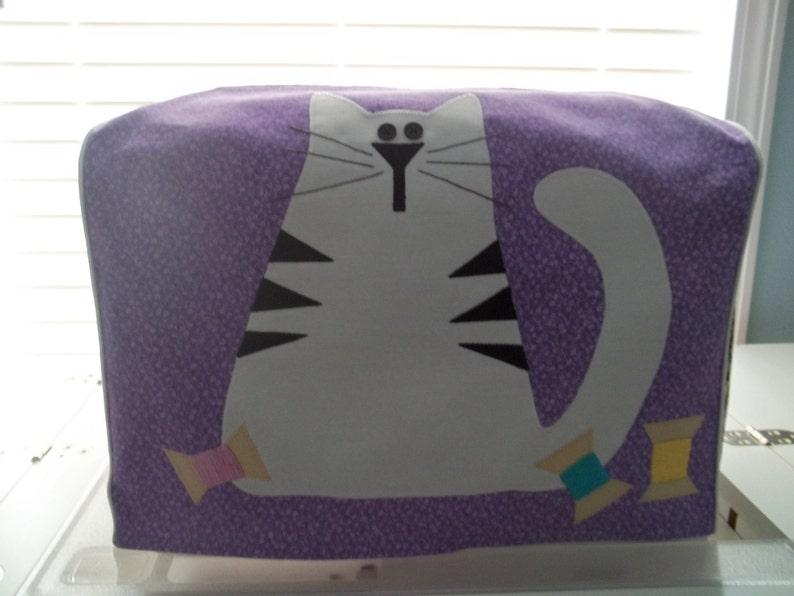 Purple Cat Sewing Machine Cover