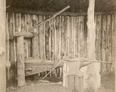 1930s Blacksmith Anvil Coal Iron Forge Bellows RPPC Photo