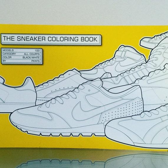 Sneaker Coloring Book Etsy